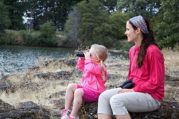 Environmental education mother kids nature fun
